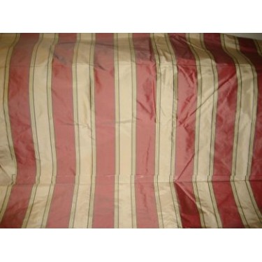 """Silk taffeta awesome red stripes 54"""" wide sold by the yard"""