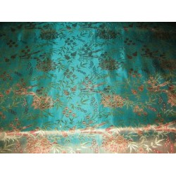 best quality turquoise blue brocade