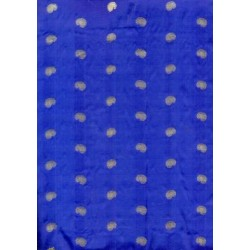pure silk bright royal blue{gold paisleys}