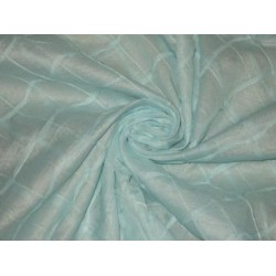 100 % Cotton organdy fabric blue colour with chocolate pintucks