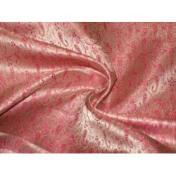 baby pink,pink & gold Colour  Silk Brocade