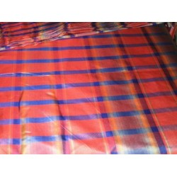 Royal blue,red and yellow colour gorgeous plaids~SILK TAFFETA FABRIC 54
