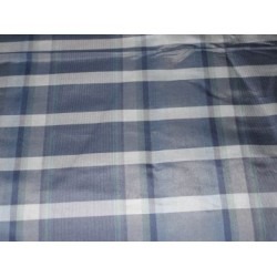 """Dark and light blue colour gorgeous plaids~SILK TAFFETA FABRIC TAFC27[4] 54"""" wide sold by the yard"""