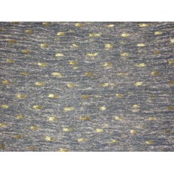 36 INCHES WIDE~ GOLD dark blue colour