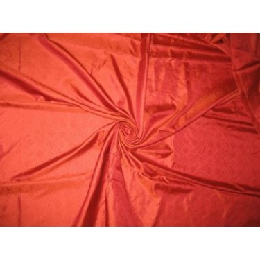 Tomato Red and Orange colour~Printed Silk Satin~Width 54