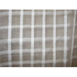 White cotton organdy fabric leno dobby plaids design 44