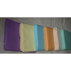Dark Lavender,Lime yellow,Sky Blue,Apricot Peach,Ivory & Sea Green colours 100% cotton organdy fabric~44