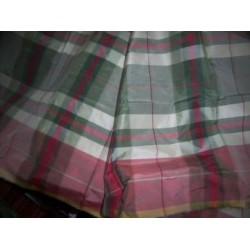 "100% Silk taffeta multi colour plaids 54"" wide sold by the yard"