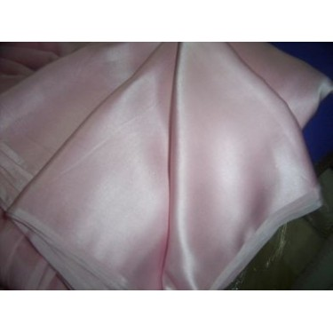 """100% pure Silk Satin fabric 54"""" -baby pink colour"""