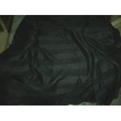 Jet black silk chiffon satin stripe fabric 44
