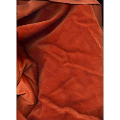"100% cotton Velvet fabric 44""~dark orange"