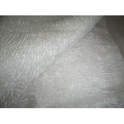 """SHEER RICH SILVER WHITE """"CRINKLED""""TISSUE SILK 36""""wide sold by the yard"""