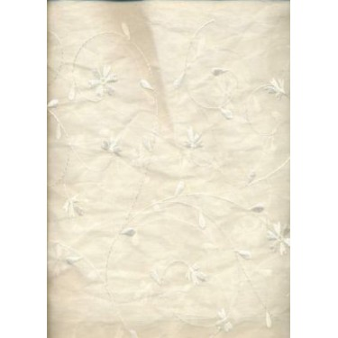 Exclusive ivory 100% cotton organdy fabric 44