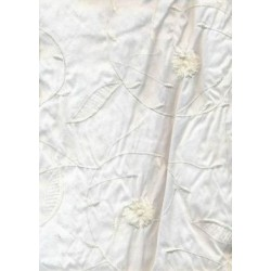 """Ivory silk dupioni with Ivory self embroidery 54"""""""