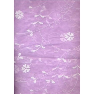 cotton organdy~embroidery{lavender}