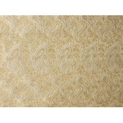 SILK BROCADE FABRIC Butter Gold & Ivory 44""