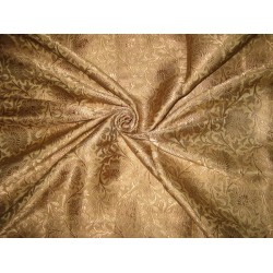Heavy Silk Brocade Fabric Gold & Antique Gold   BRO114[1] by the yard
