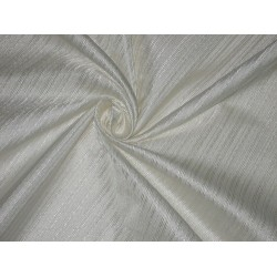 SILK BROCADE FABRIC Ivory color 44""