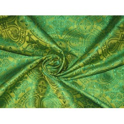 Silk Brocade Vestment Fabric Light&Dark Green