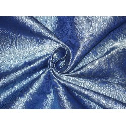 Silk Brocade Vestment Fabric Blue