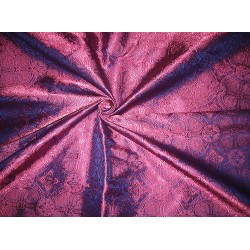 Silk Brocade Vestment Fabric PINKISH PURPLE X BLUE BRO73[1]
