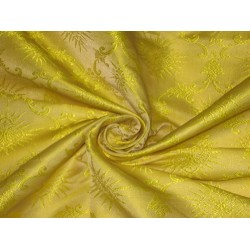 Silk Brocade Vestment Fabric Yellow