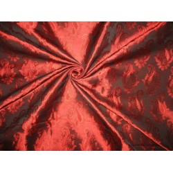 Brocade fabric Ruby Red Color BRO128[3] BY THE YARD