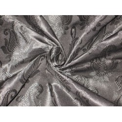 Brocade fabric Jet Black Color