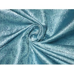 Silk Brocade Fabric Pretty Blue 44""