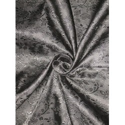 silk Brocade fabric Jet Black colour # BRO127[1] by the yard