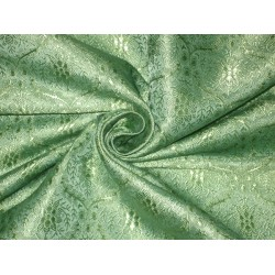 SILK BROCADE FABRIC Pastel Sea Green 44""