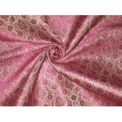 Silk Brocade Fabric Light & Dark Pink color 44""