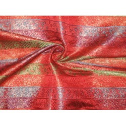 SILK BROCADE FABRIC Multi colour 44""