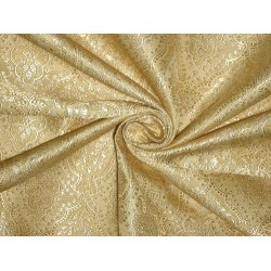 "Silk Brocade Fabric Light Gold & Cream 44"" / BRO140[5]"