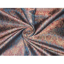 "Silk Brocade Fabric Pretty Blue 44""*"