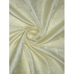 "Silk Brocade Fabric Soft Light Cream 44""BRO148[6]"
