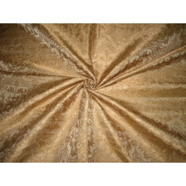 Silk Brocade Vestment Fabric Antique Gold color BRO152[4] BY THE YARD