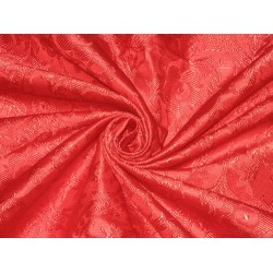 Silk Brocade Vestment Fabric Red BRO153[1] BY THE YARD