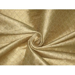 Silk Brocade fabric Dull Gold,Silver & Metallic Gold 44""