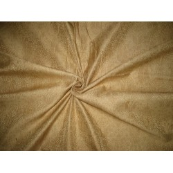 Silk Brocade fabric Light Metallic Gold & Light Gold 44""