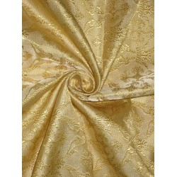 SILK BROCADE vestment FABRIC Gold color BRO156[6]