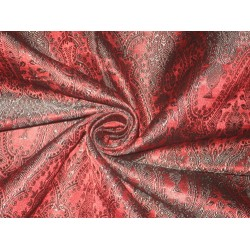 "Silk Brocade fabric Red & Black Color 44""BRO151[3]"