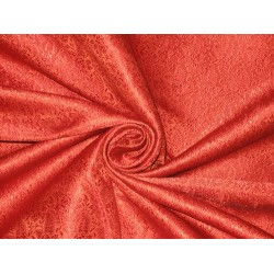 Silk Brocade fabric Red color 44""