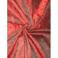 SILK BROCADE vestment FABRIC Red & Black color