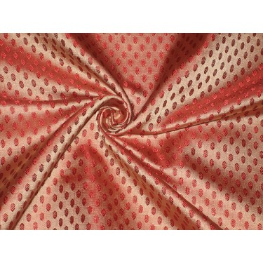 Pretty Pure Silk Broacde Fabric available in 3 colours