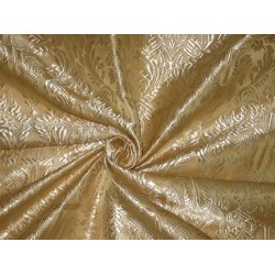 "Silk Brocade Vestment Fabric Golden Cream 44"" BRO174[4]"