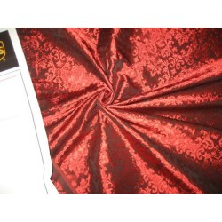 "Spun  Brocade fabric Ruby Red Color 44"" wide sold by the yard"