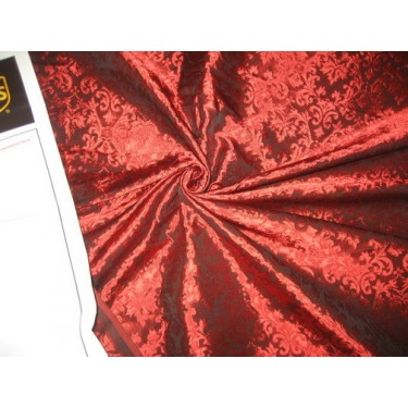 """Spun  Brocade fabric Ruby Red Color 44"""" wide sold by the yard"""