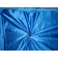"""33 momme silk  reversible satin fabric customized blue 44"""" wide"""