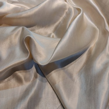 """Tussar silk satin (pure silk) fabric 44"""" wide for saree's / dresses/ westernwear sold by the yard"""